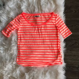 Neon striped tee by Hollister